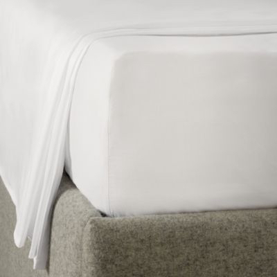 Deep Fitted Sheet, Essentials Egyptian Cotton, White, King